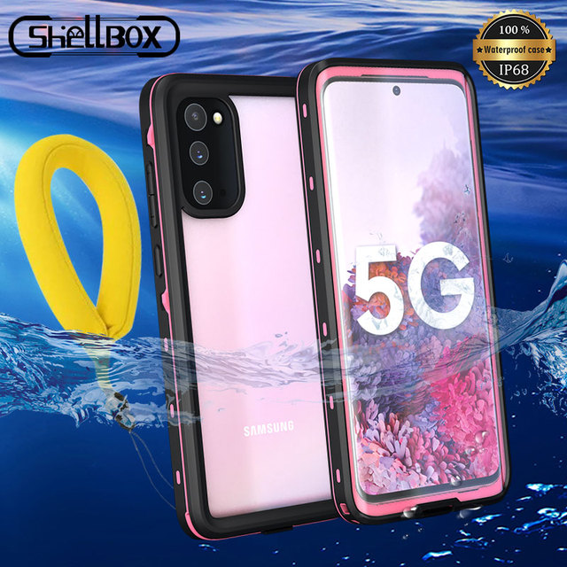 Shellbox IP68 Waterproof Diving Case For Samsung Galaxy S20 S20+ Coque Swim Dust proof Full Cover For Samsung S20 Ultra Shell