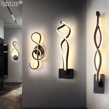 Minimaliste moderne Lampes Murales Salon Chambre Chevet 16W AC96V-260V LED D'intérieur noir blanc Lampe Couloir Éclairage décoration