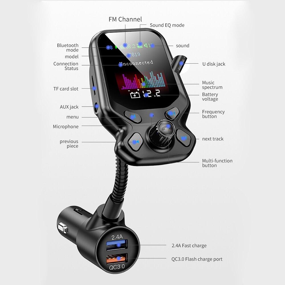 Новое поступление T819 Многофункциональный большой цветной экран автомобиля Bluetooth mp3