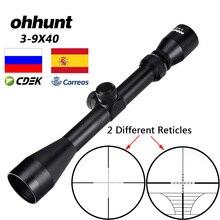 Ohhunt 3 9X40 狩猟エアライフルスコープワイヤーレンジファインダーレティクルクロスボウまたはミルドットレティクルライフルスコープタクティカル光スポット