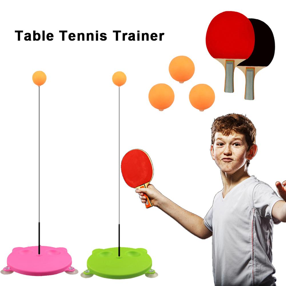 Table Tennis Trainer Elastic Soft Without Table Sport Leisure Decompression Racket Adult Ping Pong Training Set Ball Fitness 4