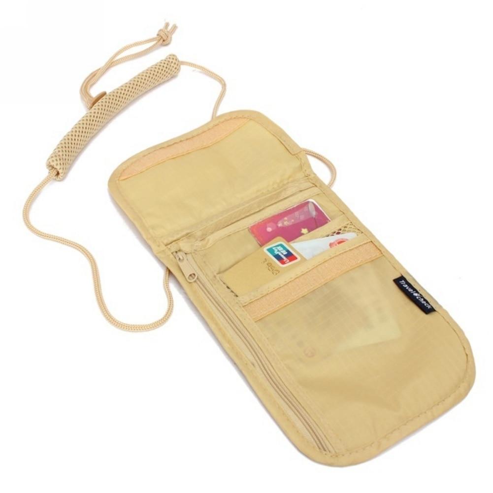 Men Women Passport Bag Neck Hanging Travel Passport Cover Cards ID Holder Pouch Money Bag Multifunction Card Package Hot Sale #