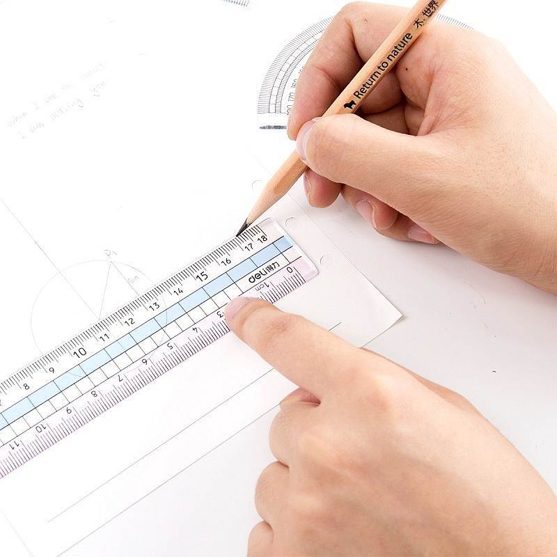 Students Ruler Sets Mapping Set Square Ruler Triangle Ruler Protractor Measurement Multi-functional Deli 71964