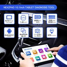 Humzor NexzPad Full System OBD2 10.1-inch Tablet Scanner Car Diagnostic Tool Key Programmer OBDII Professional Repair