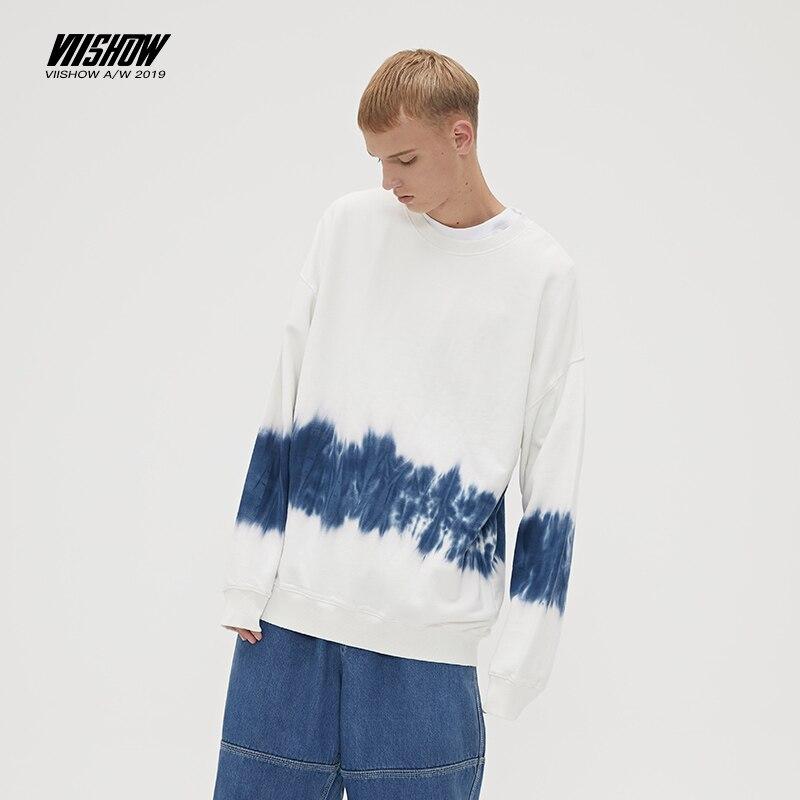VIISHOW Brand 2019 Autumn Sweatshirts Men Casual Hoodies Sweatshirts White Gradient Mens Hoodies Male Cotton Hoodie Green