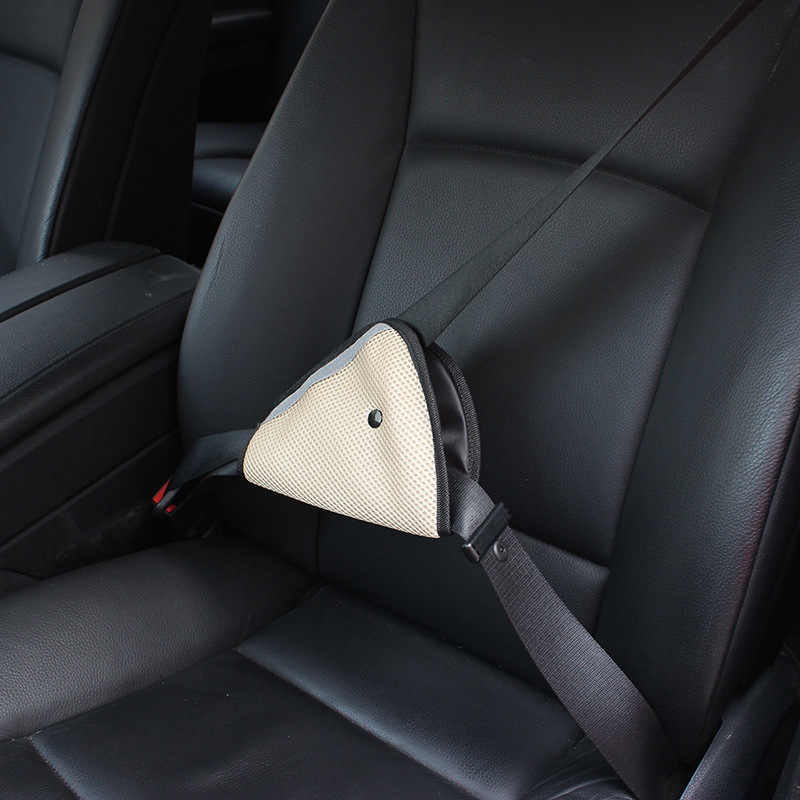 Kid Breathable Mesh fabric Car Safe Fit Seat Belt Adjuster car safety belt adjust device for baby child protector positioner