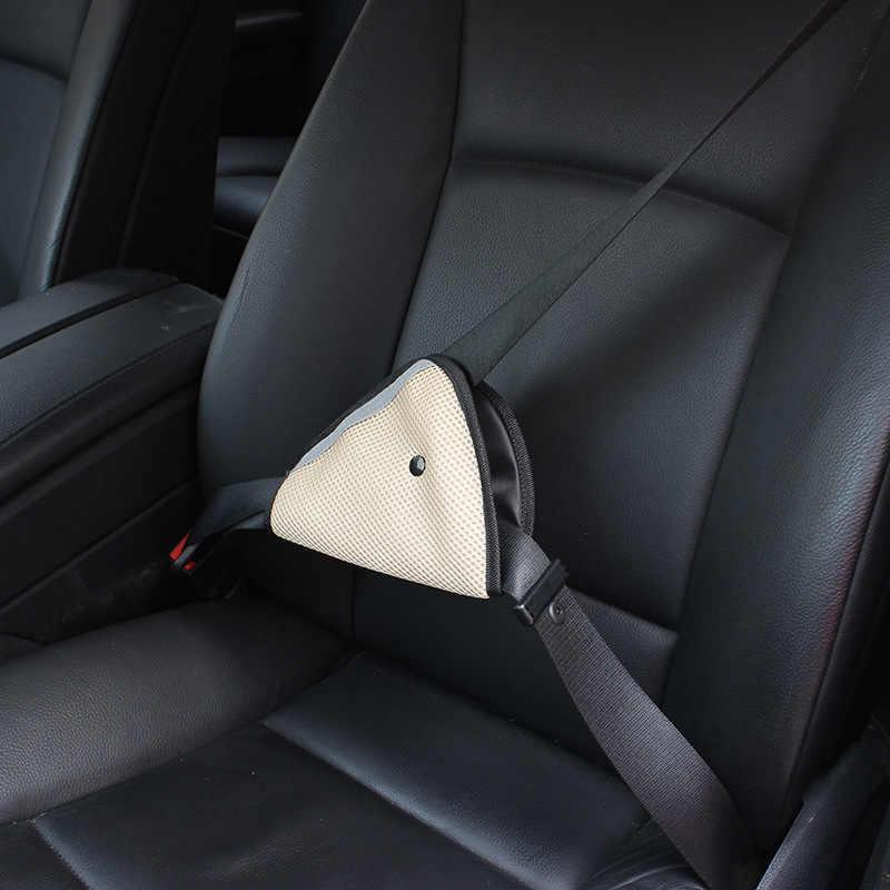 เด็ก Breathable ผ้าตาข่ายรถเข็มขัดนิรภัยที่นั่งปรับเข็มขัดนิรภัยรถยนต์ปรับอุปกรณ์สำหรับทารกเด็ก protector positioner
