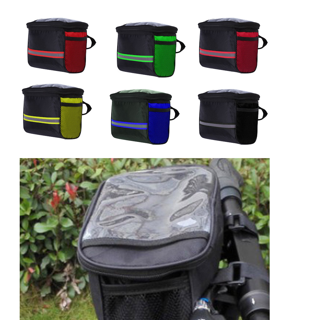 Bike Handlebar Basket Bag Bicycle Riding Storage Pouch Latge Capacity Waterproof