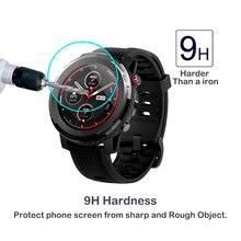 2 шт 2.5D 9H 0,3 мм закаленное стекло Amazfit Stratos 3 Смарт-часы gps Защита экрана против царапин пузырьковая прозрачная пленка