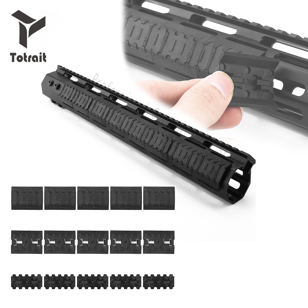 TOtrait Tactical Mlok Rail Covers M-lok SLOT SYSTEM Rail Panel 10 Sets For Outdoor Hunting Wargame Mount