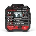 HT106D Socket Tester Teste de Tensão Detector De Soquete Plug UE Ficha de Linha de Fase Polaridade Check Disjuntor Finders
