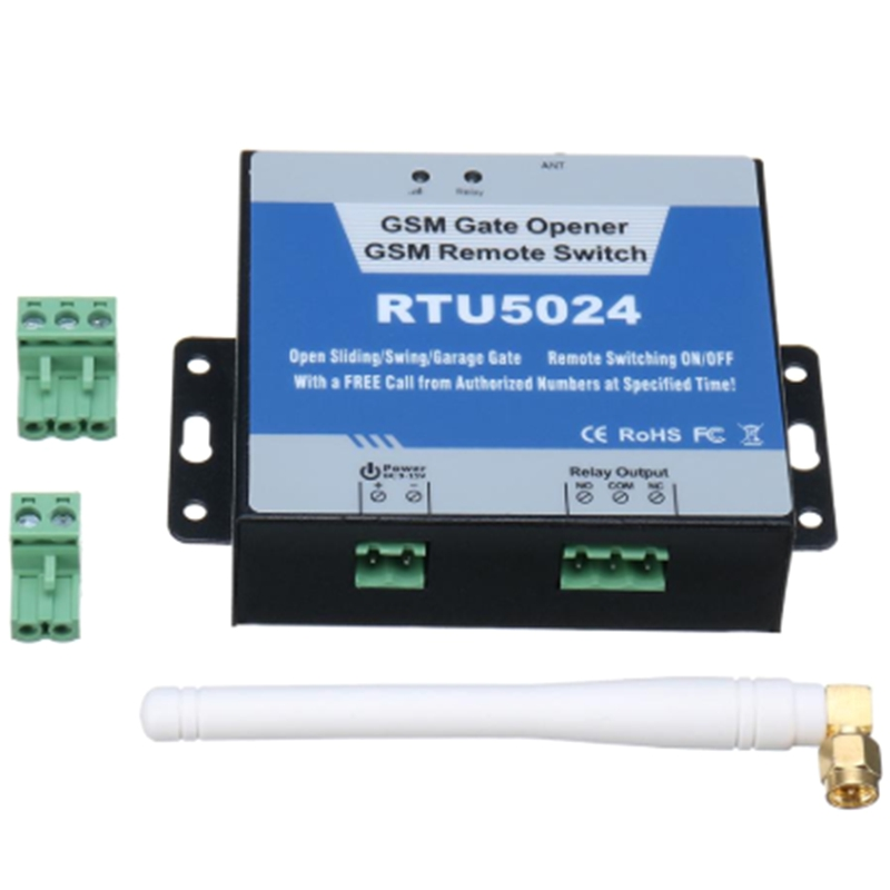 2G GSM Gate Opener Relay Switch Phone Wireless Remote Controller Door Access Wireless Opener By Free Call RTU5024(EU Plug)
