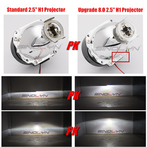 Image 3 - Sinolyn Headlight Lenses LED Angel Eyes Bi xenon Lens 2.5 Devil Eyes Headlamp Projector H4 H7 H1 Car Lights Accessories Tuning