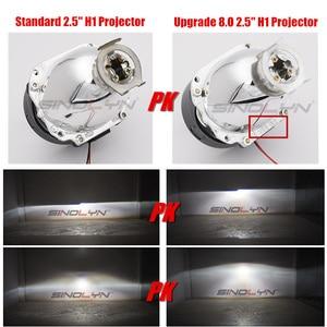 Image 3 - Sinolyn 헤드 라이트 렌즈 LED 천사 눈 Bi xenon 렌즈 2.5 악마 눈 전조등 프로젝터 H4 H7 H1 자동차 조명 액세서리 튜닝