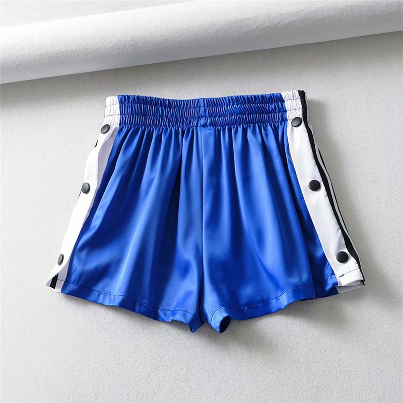 Summer Sexy Satin   Shorts   Women Black Korean Elastic Dance   Shorts   Fashion High Waist   Short   Sparkly Candy Color   Shorts   2020
