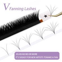 Abonnie – Extensions de cils en forme de V, faciles à coiffer, pré-fabriquées, maquillage naturel doux, plateaux de Volume
