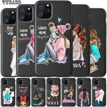 Чехол для телефона iphone 11 Super Dad Mom baby girl Fashion family Coque для iphone 11 Pro Max 8 7 X XS Max XR 6 7 8 Plus 5s Etui