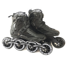 سرعة زلاجات بعجلات مضمنة المهنية حذاء بوت بنصف رقبة أحذية التزلج 4*110 مللي متر عجلات حجم 35 إلى 46 شحن التزلج Rollerblade SH62