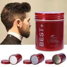 100 мл, профессиональный воск для волос, помадка, стойкий пушистый воск для волос, грязевой крем для мужчин, салонный гель-крем для отделки волос