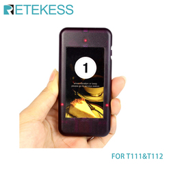 1pcs 433MHz Call Coaster Pager Receiver Restaurant Pager for T111 T112 Wireless Restaurant Paging Queuing System