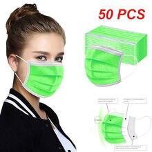 50 шт., маска для косплея на Хэллоуин, женские шарфы, маска для лица, одноразовая маска, маска