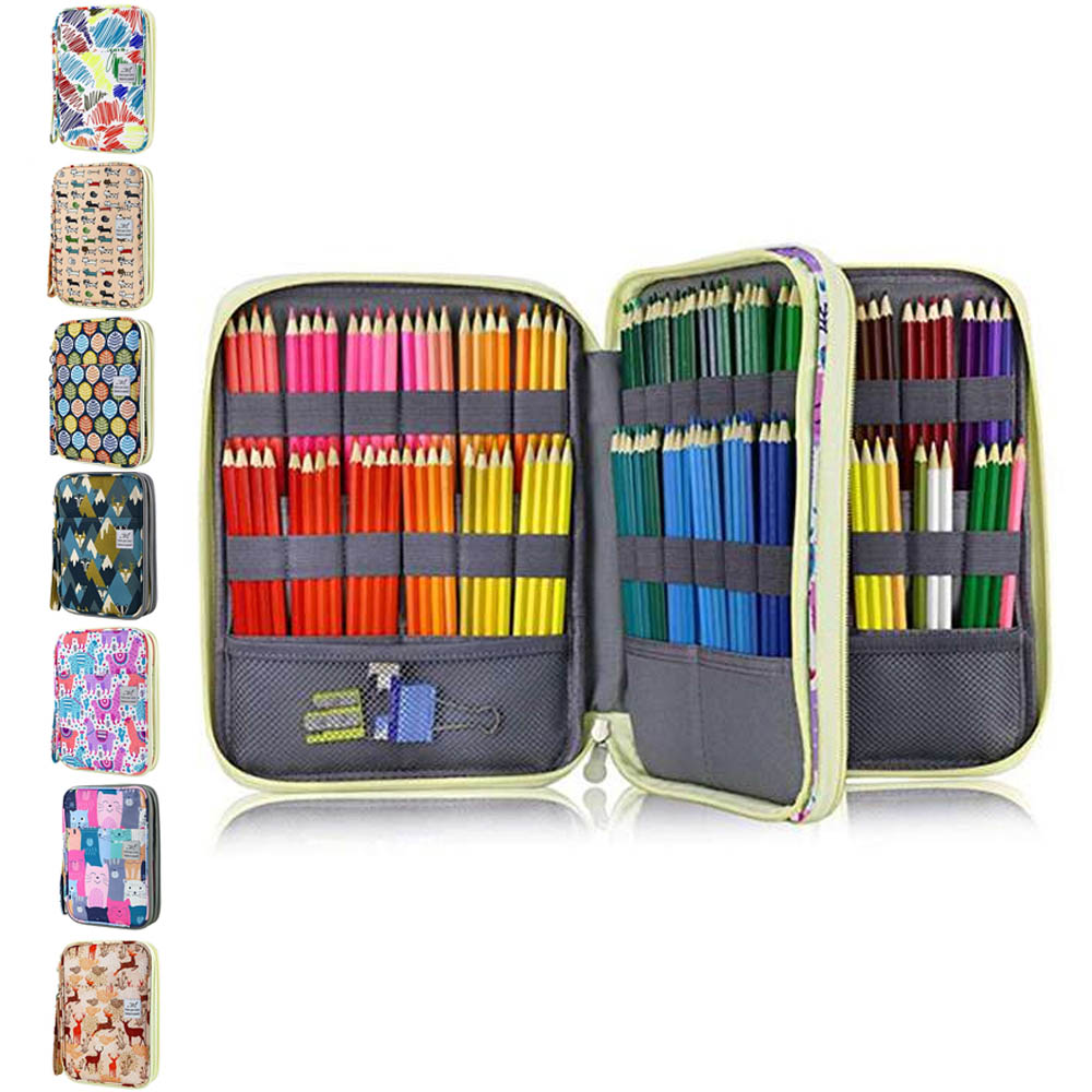 Image 3 - 192 Slots Large Capacity Pencil Bag Case Organizer Cosmetic Bag for Colored Pencil Watercolor Pen Markers Gel Pens BagPencil Bags   -