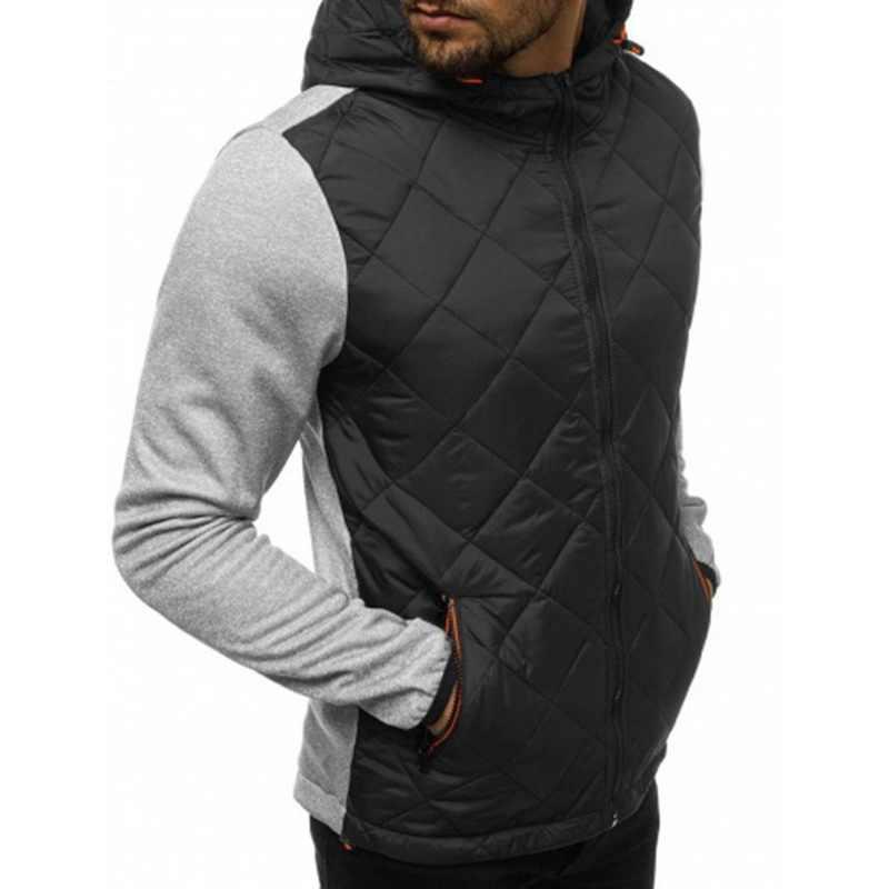 Laamei 新秋男性綿パッド入りパーカーコート冬の男性生き抜くストリートスポーツウェアウインドブレーカーボンバージャケット