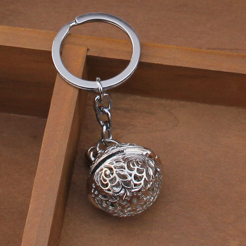 1pc Retro Hollow Bell Key Chain Key Ring Gift For Women Girls Bag Pendant Figure Charms Key Chains Jewelry