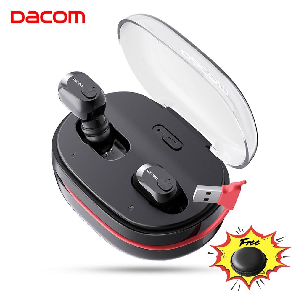 Dacom k6h pro tws handsfree ar fone de ouvido mini estéreo bluetooth 5.0 botões fones de ouvido sem fio pk i12 tws