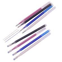 10 pçs flash gel caneta recarga borracha caneta recargas comprimento 111mm diâmetro 6mm tecido marcações caneta solúvel em água recargas de cor