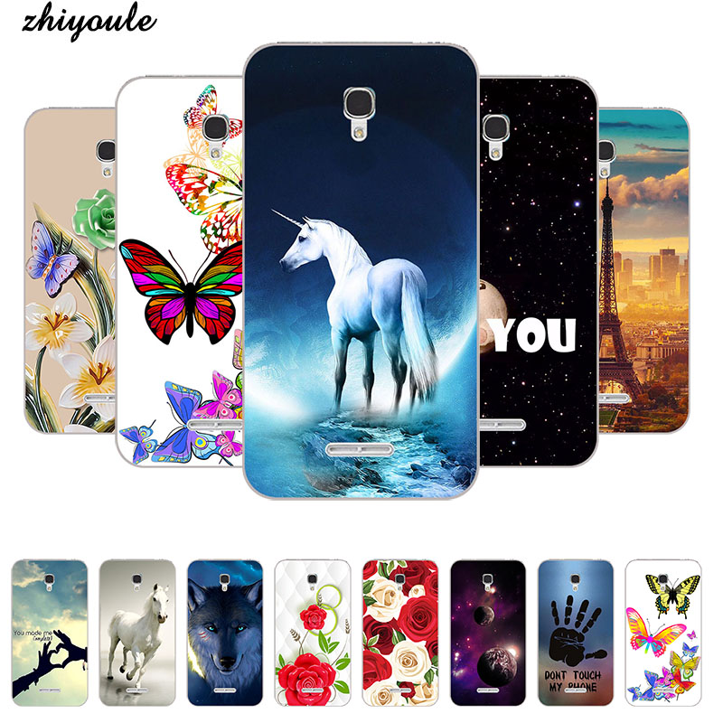 Original <font><b>Case</b></font> <font><b>for</b></font> <font><b>Alcatel</b></font> One Touch <font><b>Pop</b></font> <font><b>4</b></font> 5.0 5051 <font><b>5051D</b></font> 5051J Soft Silicone TPU Cool Design Patterned Printing Phone Cover <font><b>Case</b></font> image
