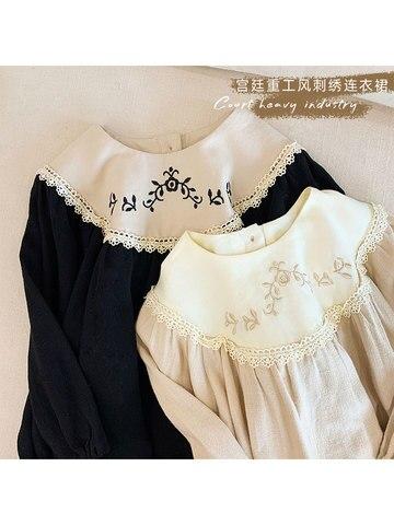 doce menina vestido 2020 primavera outono vestidos para meninas do bebe longo mangas compridas palacio