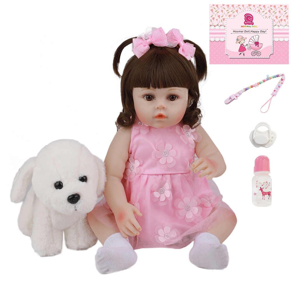 48 cm 19 Polegada venda quente feito à mão todo o silicone boneca do bebê toyalive moda adorável vinil bebe reborn bonecas para o presente de aniversário da criança