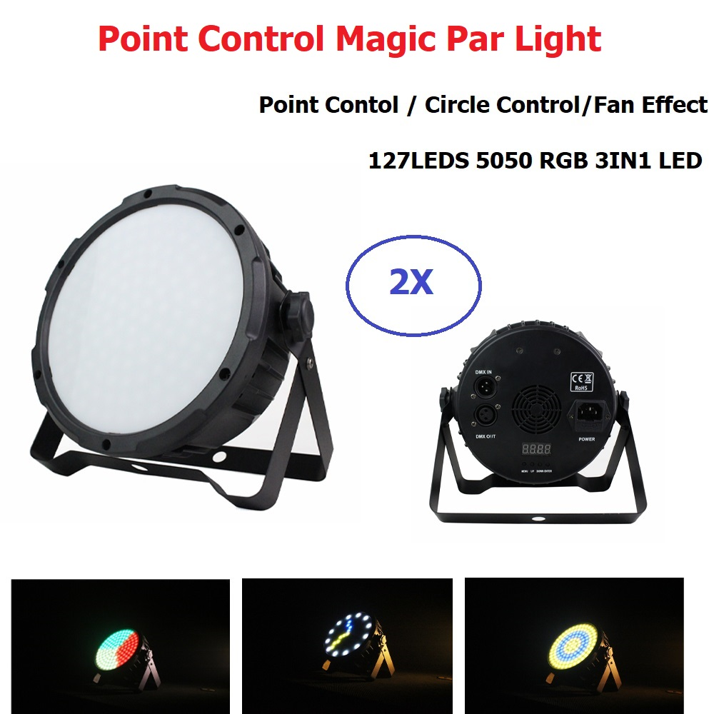 127 LEDS LED Stage Light RGB Point Control Magic Ball Bulb DMX Par Light Fan Effect Dj Disco Club Party Light Strobe Light DMX