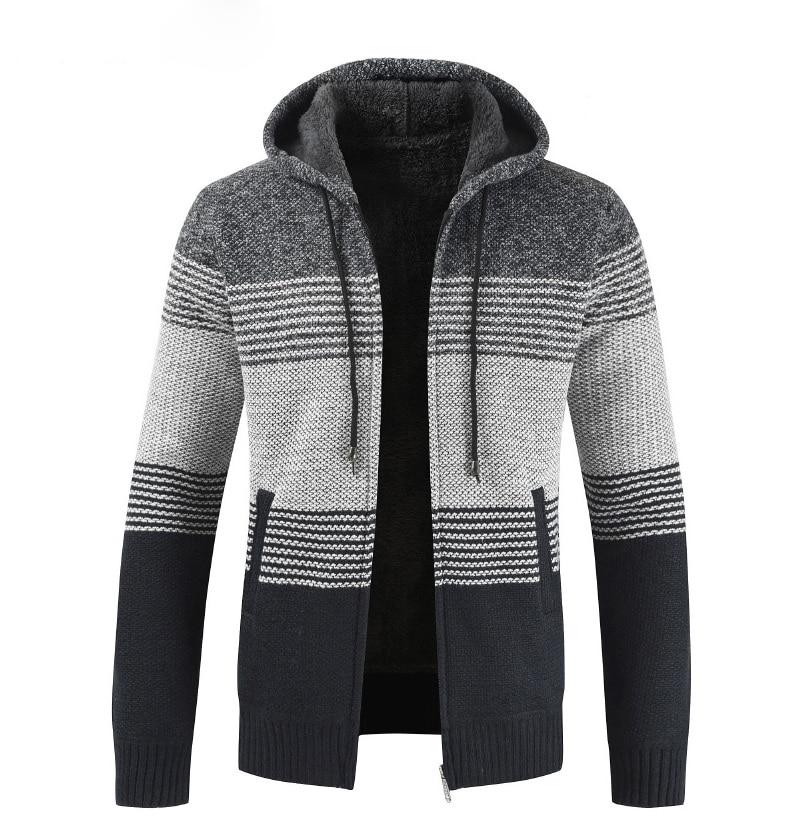 H6b495a72aa0942c991c646bf7d122295P NEGIZBER 2019 Winter Mens Coats and Jackets Casual Patchwork Hooded Zipper Coats Men Fashion Thick Wool Jacket Men Streetwear