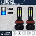 CarTnT 1 Pair Super Bright H11 LED H9 HB3 9005 HB4 9006 H11 H7 H8 LED Headlight 100W 20000LM 6000K 12V 8000K Car Headlight Bulbs