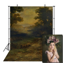Fotografia de vinil backdrops pintura a óleo estilo fundo fotográfico decorações de chá de fraldas fundo photocall adereços