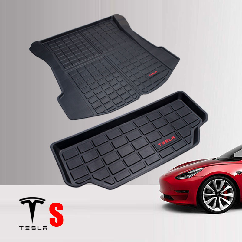 Trunk Mat Wear Resistant Car Cargo Tray Styling TPE Front Back Non Slip Accessories Protection Portable For Tesla Model S