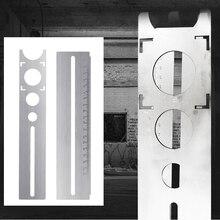 Направляющая точная шкала Инструмент бурения отверстие локатор нержавеющая сталь мрамор пробивая керамическая плитка портативный вспомогательный пол регулируемый