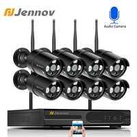Jennov 8CH 1080 Wifi 無線セキュリティカメラシステム屋外ビデオ監視キット IP カメラ Nvr セット CCTV 防水 IPP ipCam