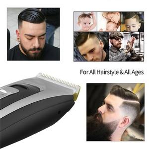 Image 3 - Profesyonel saç kesme makinesi erkekler şarj edilebilir elektrikli saç düzeltici akülü saç kesme seramik bıçak lcd ekran saç kesimi makinesi