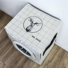 Drum Washing Machine Cover Dust Fabric Single Door Refrigerator Cloth Bedside Table Towel  ok