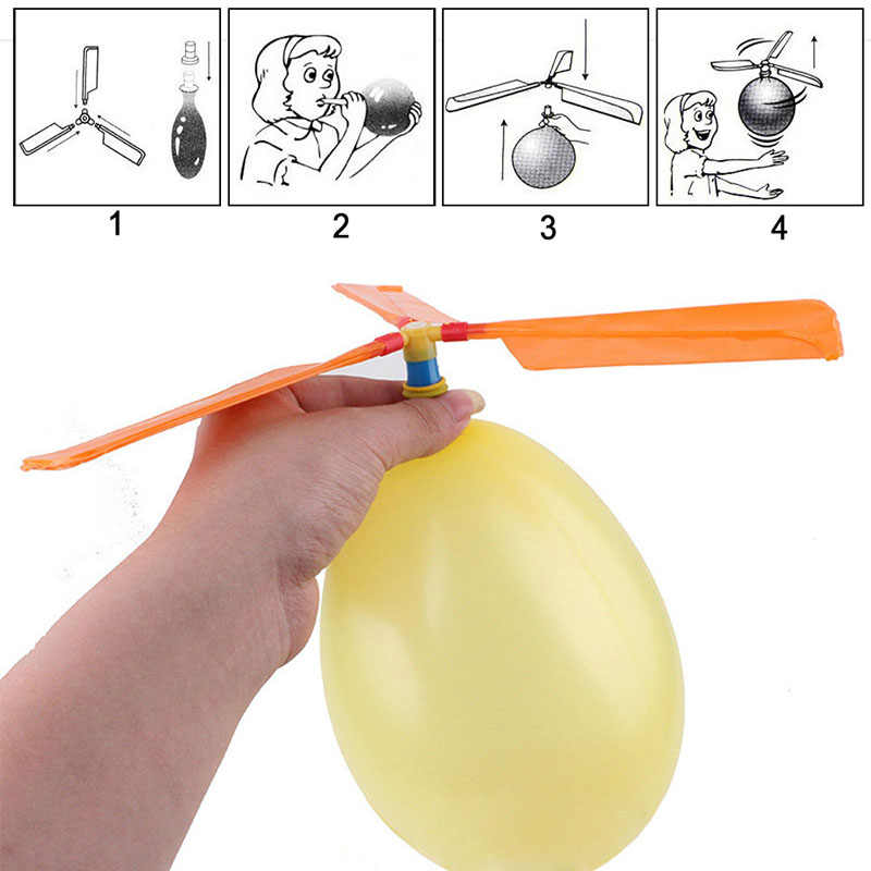 2019 New Toy Balls Balloons Helicopter Flying With Whistle Children Outdoor Playing Creative Funny Toy Propeller For Kids Toys