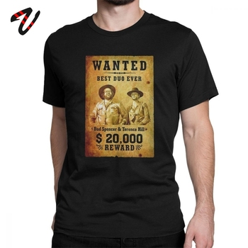Terence Hill i bd Spencer T Shirt fajne męskie koszulki T-Shirt topy koszulki topy śmieszne męskie koszulki wycięcie pod szyją T-Shirt topy Tees tanie i dobre opinie Vikineey Krótki CN (pochodzenie) O-neck tops Regular Suknem COTTON Na co dzień Drukuj Soft Eco-friendly Breathable Comfortable Anti-Wrinkle