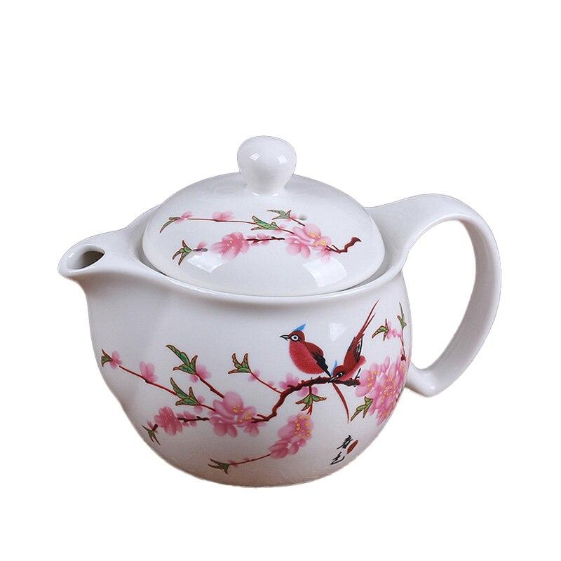 Pu'er Teapot 350ml Jingdezhen Ceramic Tea Pot Filter Lid Set Blue and White Porcelain Teapots Tea Kettle Drinkware Teaware Decor