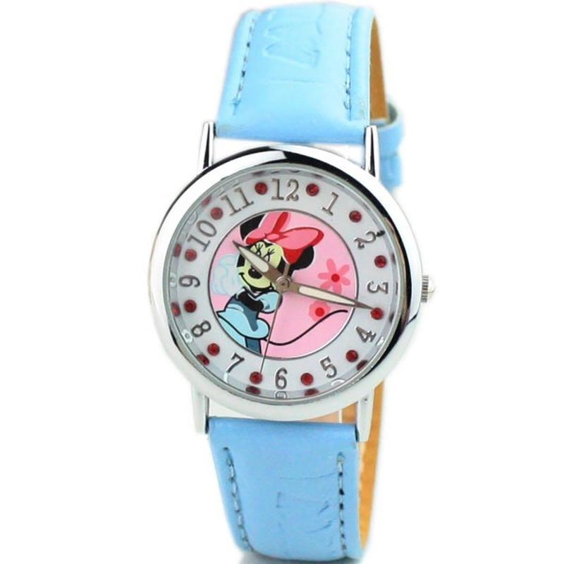 Mickey Mouse Cartoon Wristwatch Fashion Rhinestone Mickey Belt Fashion Watch Children Quartz Watch Kids Watches Boys Quartz