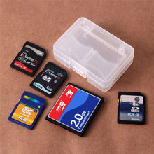 5 Slots Double-Layers Hard Plastic Micro SD SDHC TF MS Card Protecter Box Transparent Portable Memory Card Organizer Holder(China)