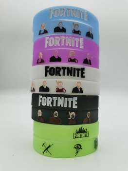Luminous Silicone Child Bracelet Fortnite Wristband Rubber Adult Fortress Night Men Bracelet Model Pattern Kid Birthday Toy Gift 2