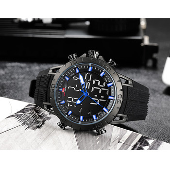 Men Watch Luxury Chronograph Male Sports Waterproof 50M Military Watches Men Top Brand Casual Quartz Rubber Clock NEW image