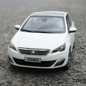 1:18 Peugeot 308S 2015 Hatchback Alloy Diecast Metal Car Model Original Car Toy For Kids Birthday Gifts Toy Collection 1